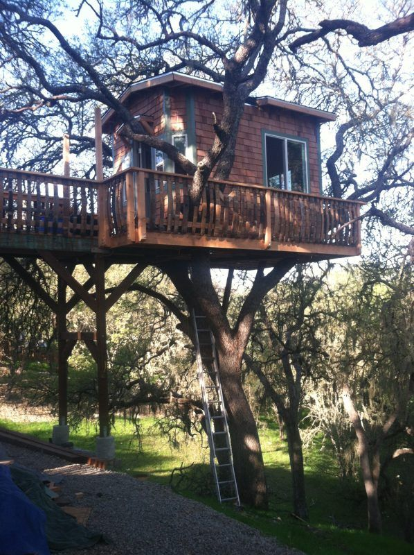 deck tree house ideas