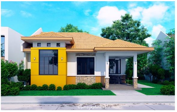 6+ Bungalow With 3D Floor Plans Make Use Of Firewall To Maximize Space