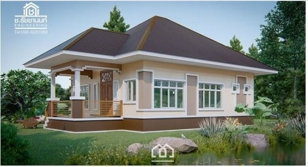 6+ Warm Contemporary House Design (3 Bedrooms and 1 Bathroom with 3d Floor Plan)
