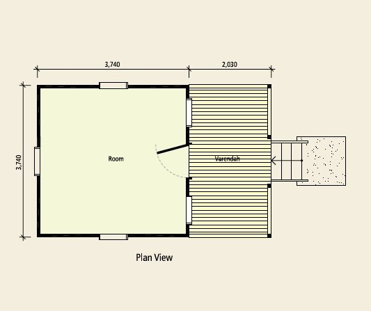 minimalist Small Garden House plan