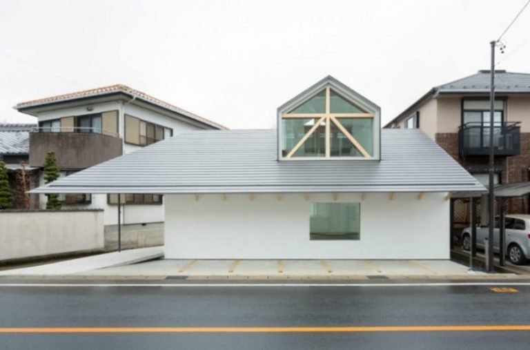 House with Dormer Window in Gifu, Japan by Hiroki Tominaga-Atelier