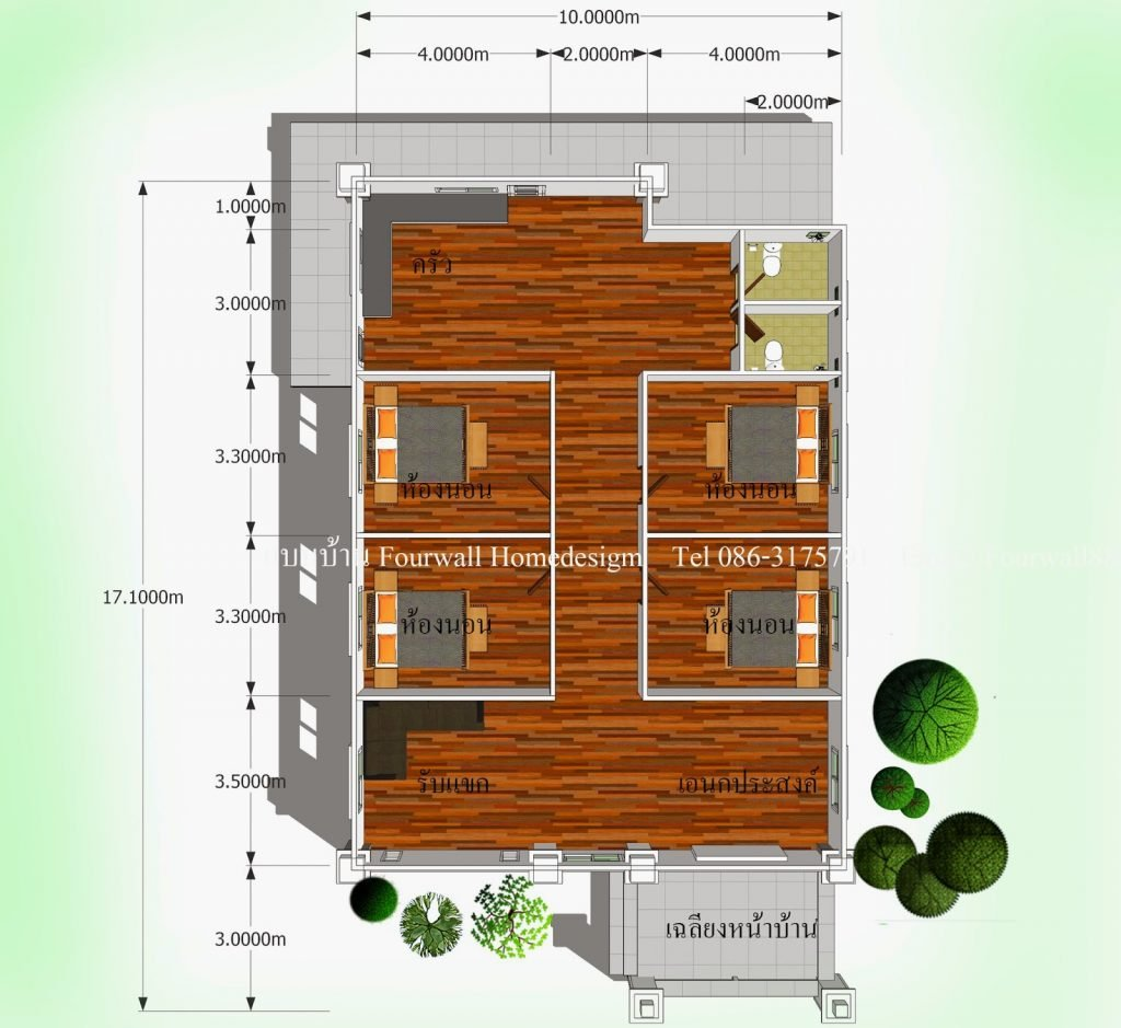 Single-Storey Fully Flexible And Customizable House plan