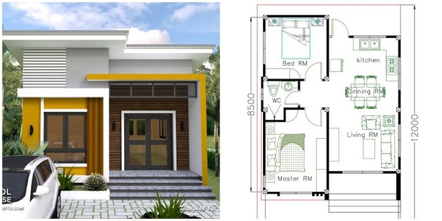 Small House Plan for Contemporary 2-Bedroom Home