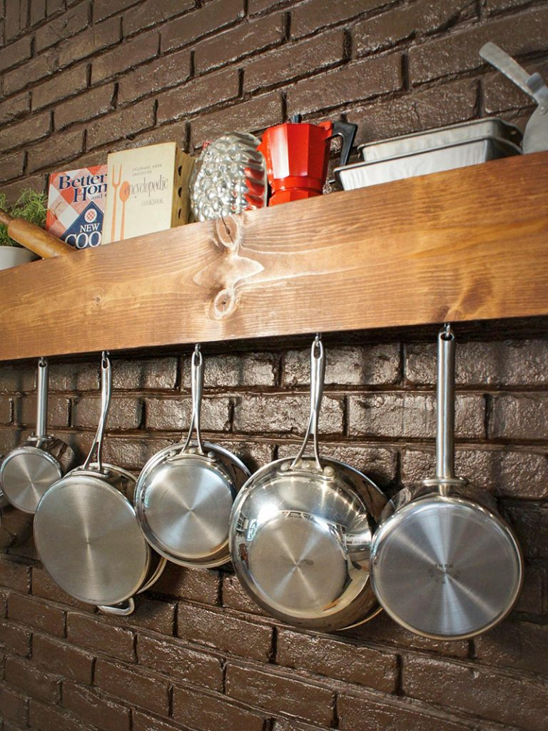 Wooden Shelf and Rack