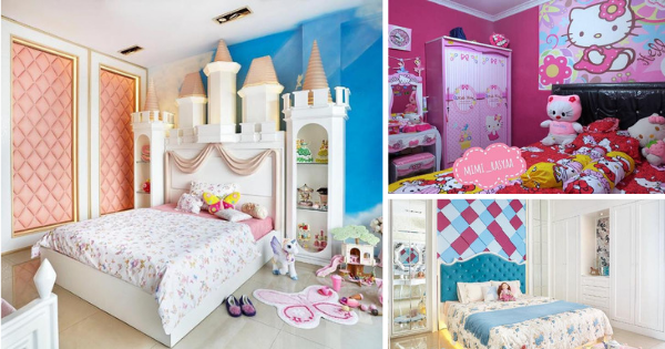 20+ Adorable Girls Bedrooms Ideas with Cute but Minimalist Designs