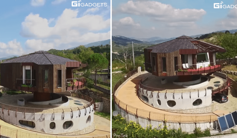 Impressive Octagonal House That Rotates 360 Degrees