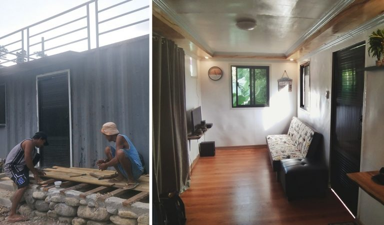 Guy Transforms Boring Container Van into Beautiful Tiny Home