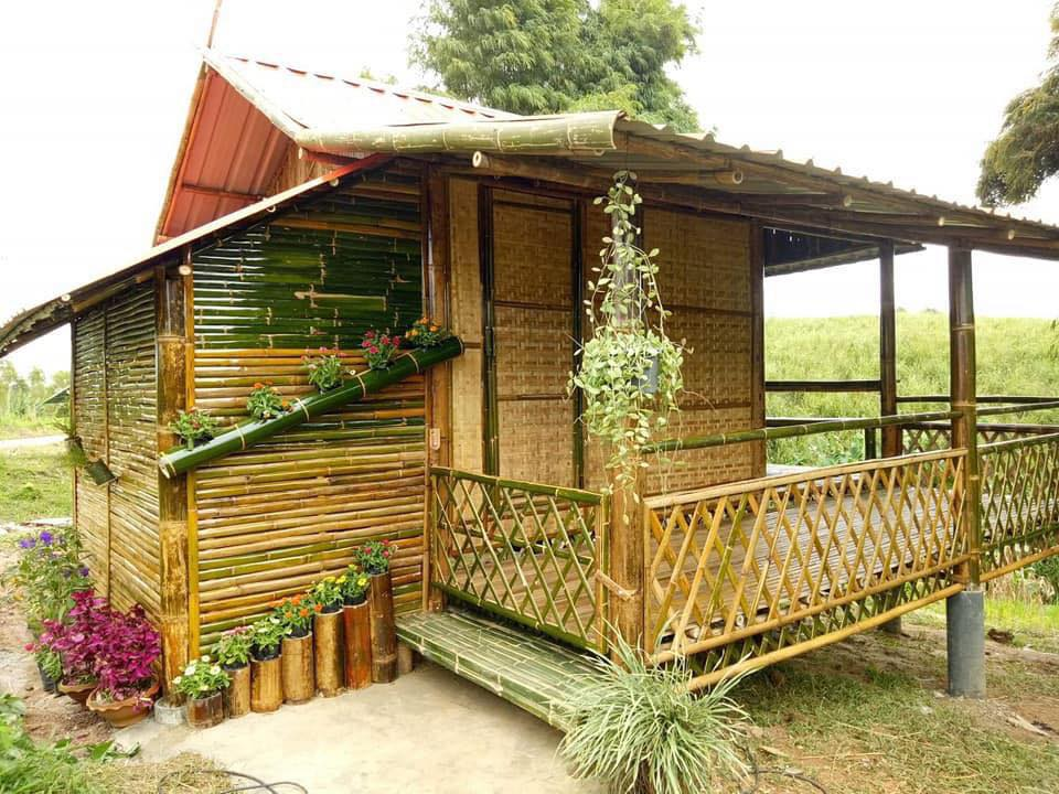 Native House Made of Bamboo