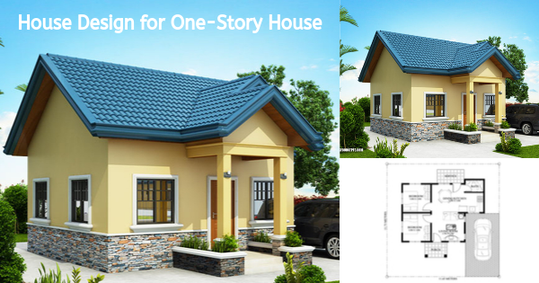 Small But Impressive House Design for One-Story House with Two Bedrooms
