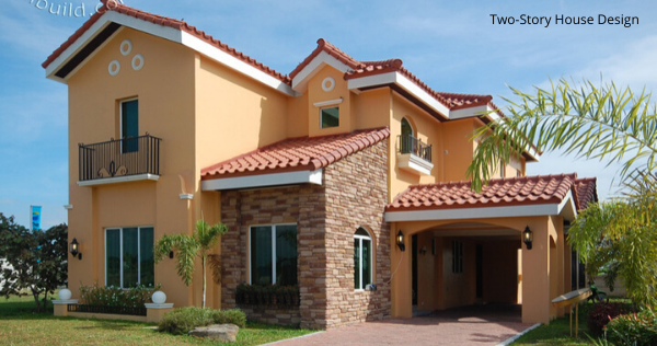 Grand Two-Story House Design with Three Spacious Bedrooms & Beautiful Interiors