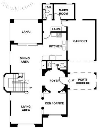 Two-Story House Design plan