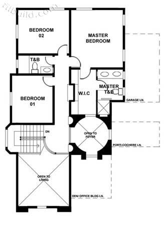 Two-Story House Design plan 2