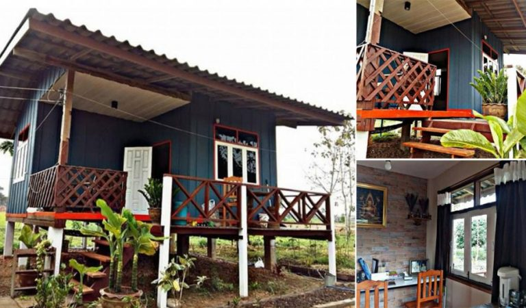 Compact-Sized Wooden House Design for a Small Family on a Budget