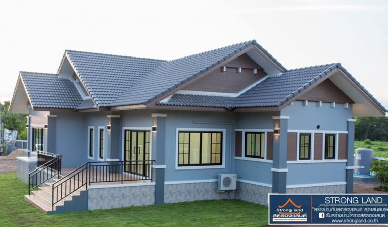 Contemporary One-Story House Design with 3 Bedrooms, Offers Modern Features