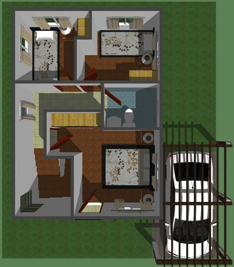 Modern Two-Story Home  plan 2