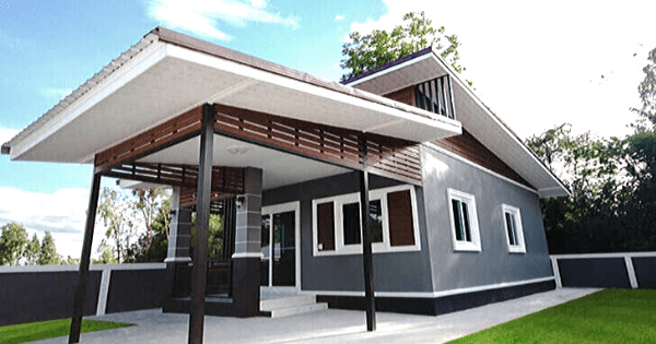 Modern Style One-Story House for a Small Family