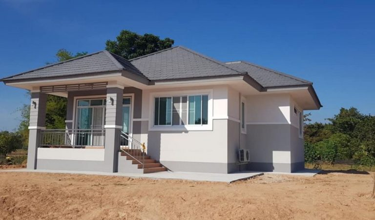 Contemporary Bungalow Style with Compact 3-Bedroom House Design