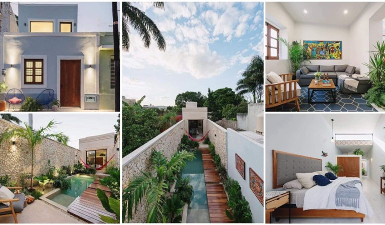 2-Story House Built on Very Narrow Lot with Gorgeous Interiors & Surprising Space