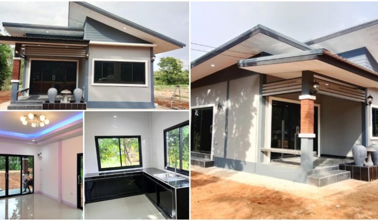 Modern One-Story House with 2 Bedrooms, Budget-friendly Compact Design