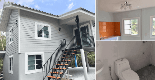 Classic Raised Grey House with 2 Bedrooms, Spacious Upstairs Lobby