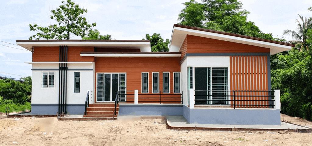 L-Shaped Contemporary Home