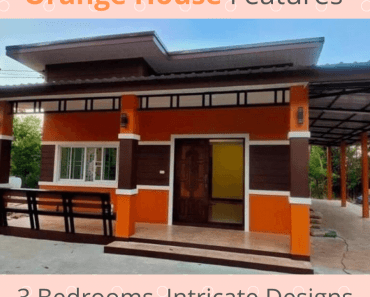 Orange House Features 3 Bedrooms, Intricate Designs