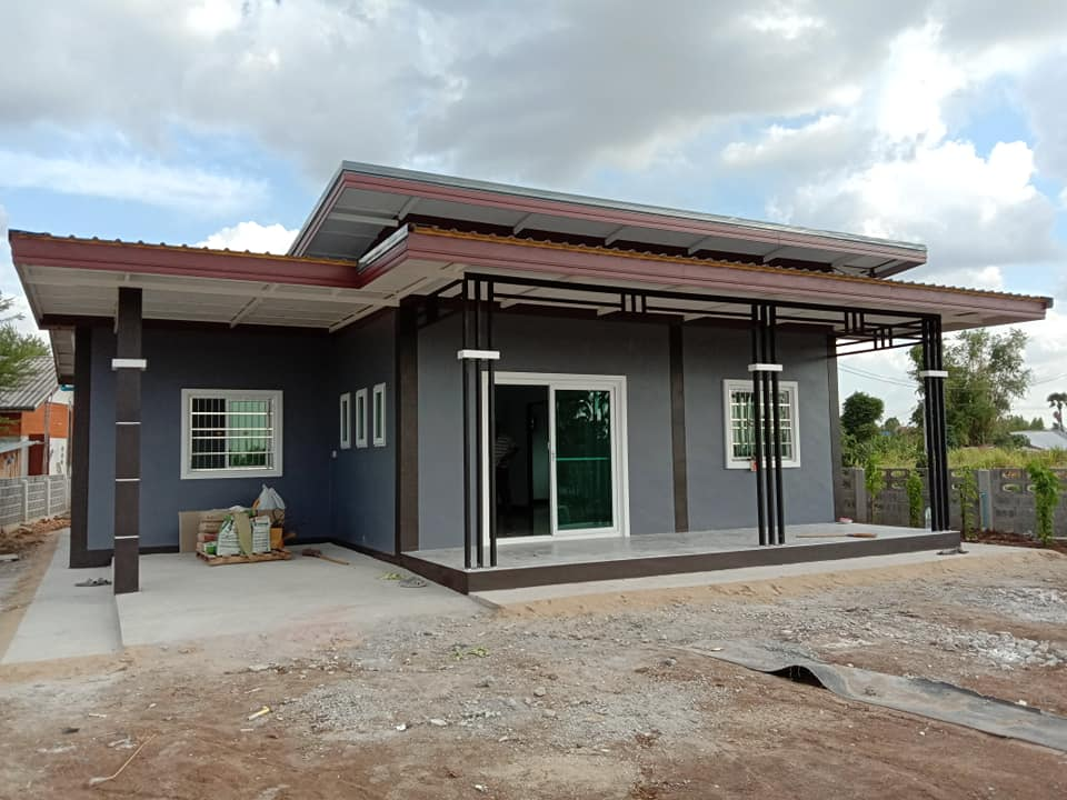 Modern One-Story House front view