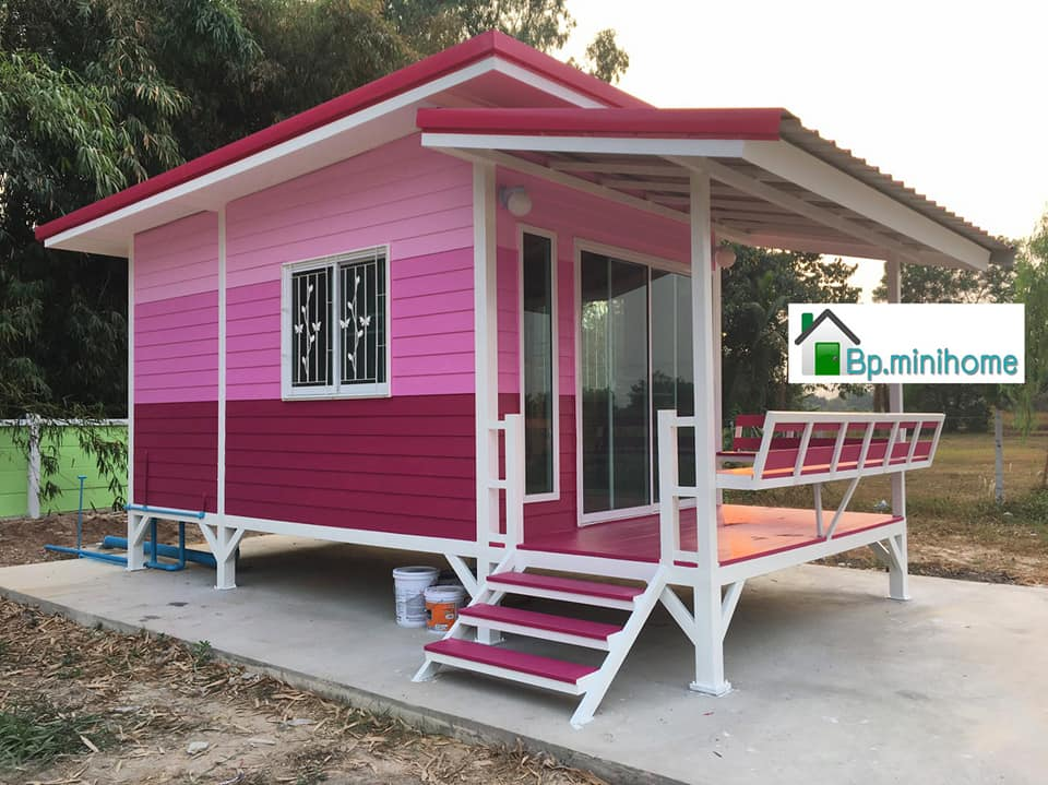 Pink Wooden Mini House
