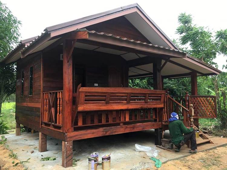 Charming Thai-Style Wooden House with 1 Bedroom