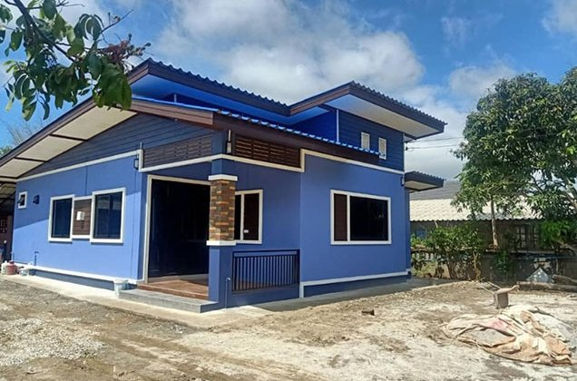 Modern 4-Bedroom Blue House front