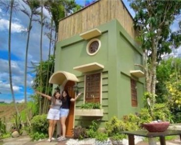 Tiny 2-Story House with Cute Design, Lovely Rooftop