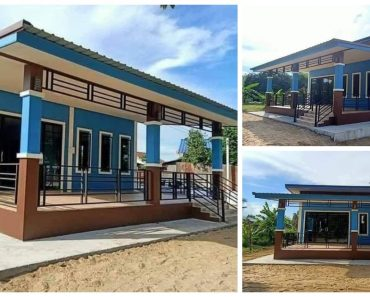 Beautiful 140sqm Blue House with Large Porch, 2 Bedrooms