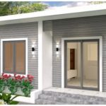 Small House Plan with Cool Design, 42 sqm Size with 2 Bedrooms