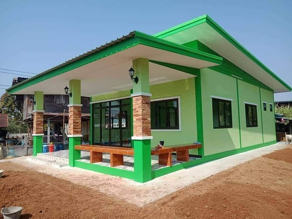 Houser with Green Exterior Color