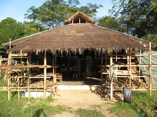bamboo house front