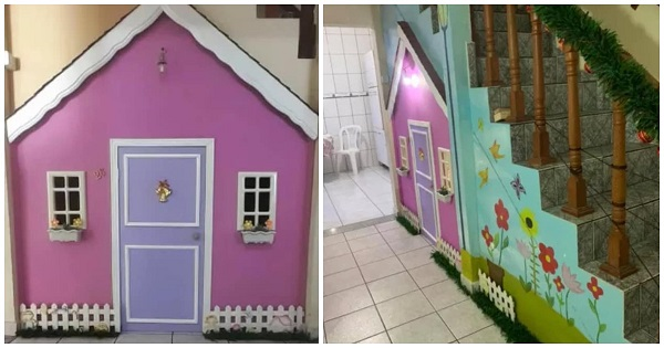 Dad Makes Daughter's Little Dream House Plan Come True